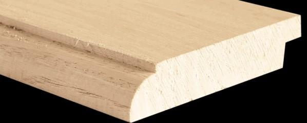 Plinthe châtaignier quart de rond - (brut)